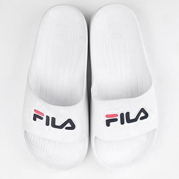 【現貨】FILA 男鞋 女鞋 拖鞋 休閒 防水 白【運動世界】4-S355Q-113