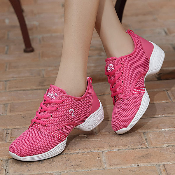 618大促 慧曦舞蹈鞋女春夏季新款軟底網面透氣女式廣場舞鞋水兵舞跳舞鞋
