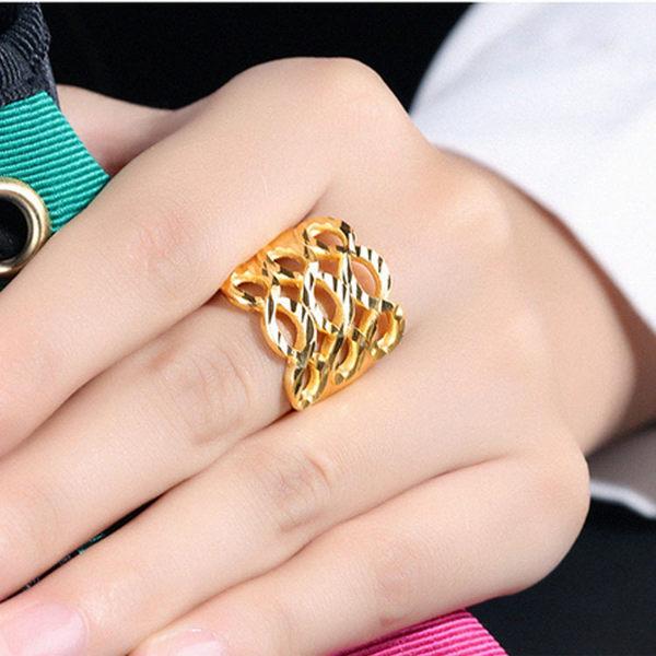 【5折超值價】最新款經典時尚復古特色造型銅鍍18K金女款戒指