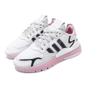 adidas 休閒鞋 Nite Jogger W 白 粉紅 女鞋 運動鞋 復古慢跑鞋 反光 【PUMP306】 EG7942
