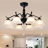 (一件免運)北歐美式客廳吊燈臥室餐廳地中海簡約現代鐵藝術復古大氣吸頂燈具XW
