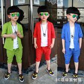 男童演出服兒童禮服小西裝套裝婚禮花童男孩三件套演出服男童表演服 LH3488【3C環球數位館】