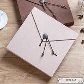覆膜DIY手工相冊影集寶寶成長情侶自粘紀念本簡約布面創意禮物
