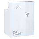 【森可家居】時尚2.7尺白色多功能桌 9JF836-1 櫃台 櫃檯 接待 收銀台 講台 講桌