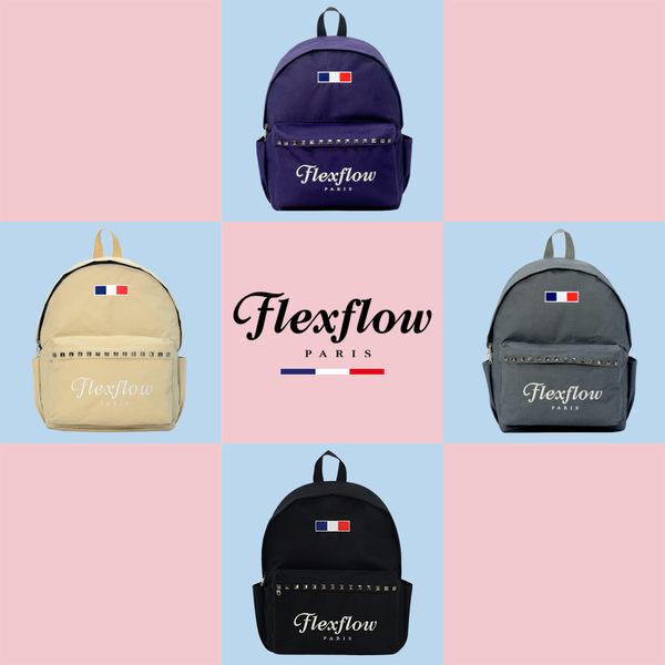 Flexflow-龐畢度系列法式復古刺繡鉚釘背包-花蝶