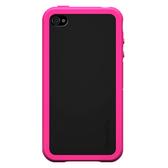 【A Shop】XtremeMac 雙層矽膠材質,好裝好拆設計 for iPhone4專用外殼-粉黑