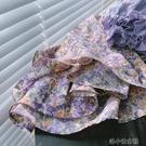垂墜傘裙碎花長裙女春夏季新款雪紡半身裙A字裙半裙 洛小仙女鞋
