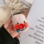 ins韓國卡通手工毛線針織萌女款蘋果airpods2保護套無線藍牙耳機airpods保護套 安妮塔小舖