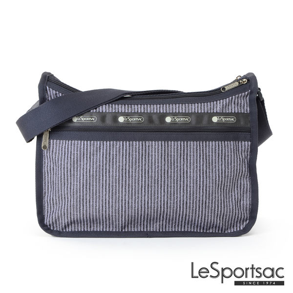 LeSportsac - Standard雙口袋A4大書包-附化妝包 (條紋/黑灰) 7507P F218