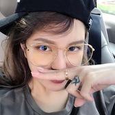 2018新款防藍光手機電腦平光鏡女大框網紅情侶眼鏡框近視眼睛架女