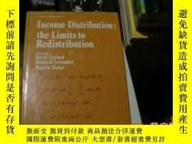 二手書博民逛書店income罕見distribution; the limits