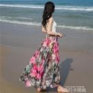 印花半身裙夏2020新款女裝碎花8米大擺裙中長款飄逸超仙女長裙子 依凡卡時尚