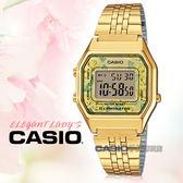 CASIO 卡西歐手錶專賣店 國隆 LA680WGA-9C 電子女錶 不鏽鋼錶帶 玫瑰花圖樣 防水 碼錶功能  LA680WGA