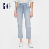 Gap女裝淺色水洗五口袋牛仔褲546923-做舊淺靛藍