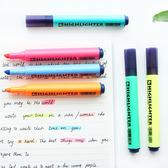 ✭米菈生活館✭【P198】三角筆桿螢光筆 學生 設計 辦公 學習 創意 文具 彩色 重點 標記