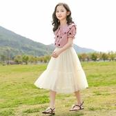 女童夏套裝 女童夏季兩件套2020新款洋氣中大童夏裝套裝網紅兒童短袖公主裙子【快速出貨】