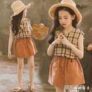 女童夏裝2019新款時髦套裝韓版童裝洋氣棉麻兒童夏季兩件套裙大童 韓語空間