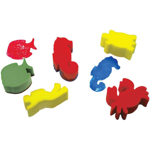 海綿印章-海底生物 兒童幼兒教具教學道具彩繪著色畫圖用具親子同樂綜合活動藝術與人文