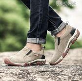 運動鞋 春季新款戶外休閒運動鞋男士牛筋底男鞋耐磨軟底輕便登山鞋 育心小賣館