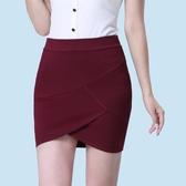 包臀裙 2019春夏新款包臀裙半身裙職業短裙高腰黑色一步裙工作裙彈力包裙 MKS交換禮物