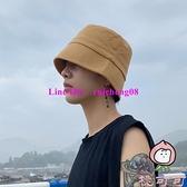 漁夫帽水桶帽夏季純色韓版百搭休閒盆帽【桃可可服飾】