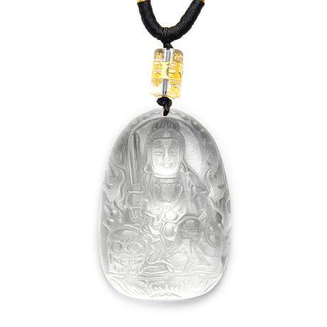 【女款】八大守護神 屬兔必帶文殊菩薩 白水晶吊墜
