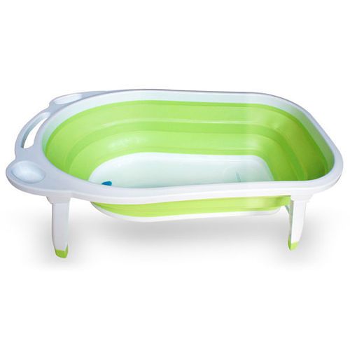【奇買親子購物網】AJ Hippo 小河馬摺疊式浴盆/粉/藍/綠