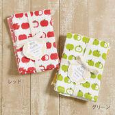 【日本進口】 蘋果家事布 100%純棉擦碗巾/抹布  一組2入