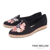 Tino Bellini 巴西進口花鳥蝶舞電繡麻編休閒鞋 _ 黑 B83235 歐洲進口款