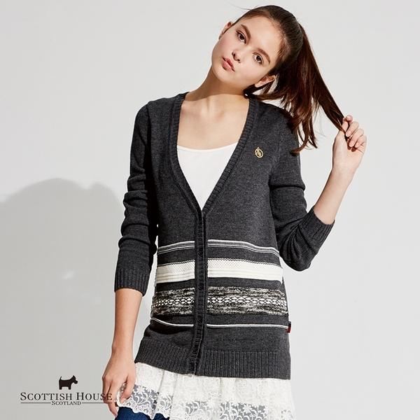 撞色立體織紋長袖針織外套【AG1412】