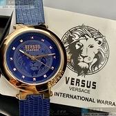 VERSUS VERSACE凡賽斯女錶36mm寶藍色錶面寶藍錶帶