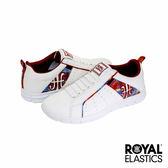 Royal Elastics Zephyr 經典運動鞋-白x橘紅學院格紋