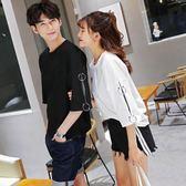 情侶短袖   韓版百搭時尚短袖t恤潮流氣質學生女半袖   ciyo黛雅