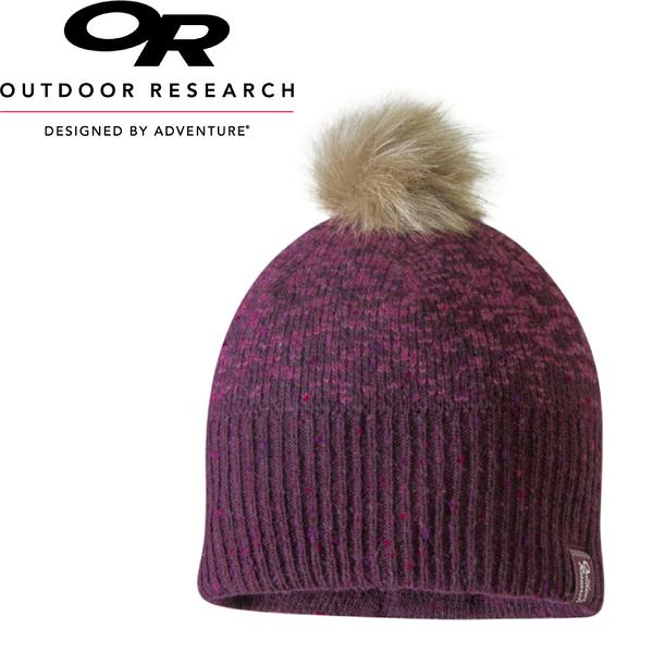 【Outdoor Research 美國 EFFIE BEANIE童保暖壓克力混紡帽《紫紅》】262338/絨球/毛帽/