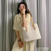 帆布包 單肩包包女2020夏季新款韓版托特女包大容量手提包百搭蕾絲帆布包 1995生活雜貨