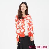 RED HOUSE-蕾赫斯-花朵假兩件針織衫(共兩色)