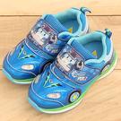 男童 POLI 波力 救援小英雄 車頭電燈拼接網布魔鬼氈 休閒鞋 運動鞋 電燈鞋 59鞋廊