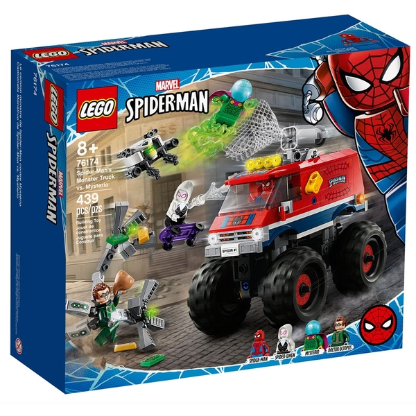 LEGO樂高 Marvel Avengers系列 Spider-Mans Monster Truck vs. Mysterio_LG76174