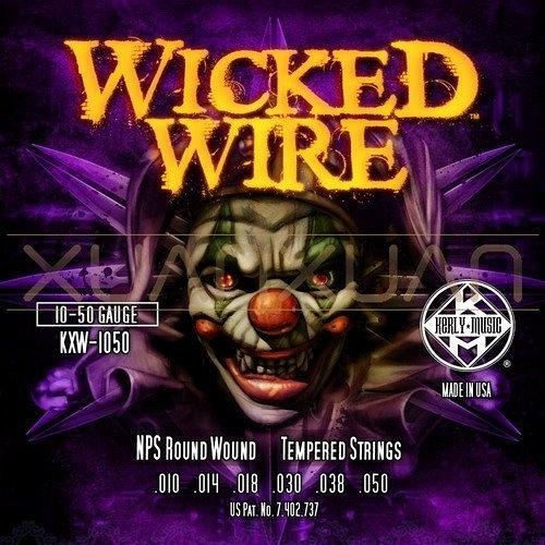 ☆唐尼樂器︵☆ Kerly Wicked Wire 系列小丑弦/冰火弦 KXW-1050 (10-50)美製電吉他弦