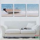 無框畫裝飾畫客廳裝飾壁畫辦公室酒店酒吧臥室掛畫風景海邊小船