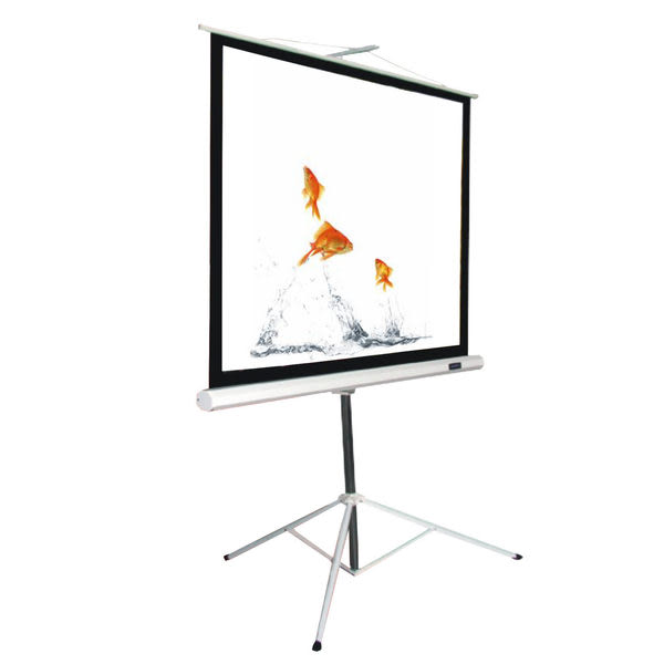 [卡瑪斯投影機銀幕]118 吋三腳支架投影布幕 219 cm × 219cm 移動式席白投影幕 一年保固 含運含稅