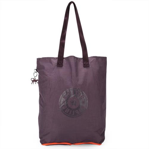 Kipling HipHurray5尼龍摺疊購物袋(紫羅蘭)460172-110