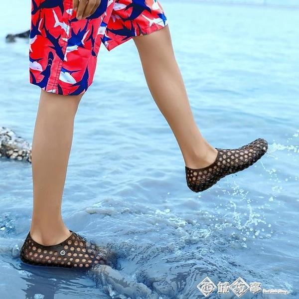 夏季輕便休閒沙灘2020水鞋透氣開車洞洞鞋男士拖鞋男新款潮涼鞋男 西城故事