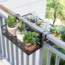 花架 歐式陽台花架 鐵藝欄桿多層懸掛式花盆架壁掛綠蘿多肉花架