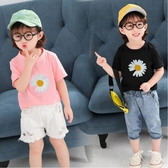 2020夏季新款小雛菊短袖T恤兒童女童圓領上衣打底衫洋氣體恤20311 滿天星