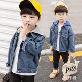 男童牛仔外套 秋裝2018新款兒童裝連帽上衣寶寶小孩 BF10824【旅行者】