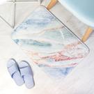 獨家打版設計款 大理石紋法蘭絨墊 高密度記憶海綿慢回彈材質 乳膠PVC防滑底,踩踏不易打滑
