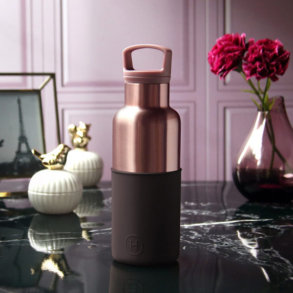 HYDY 櫻桃紅-蜜粉金瓶 時尚保溫水瓶 480ml