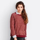 Gina hello 推薦-SISJEANS-酒紅百搭寬鬆針織衫【15296008】