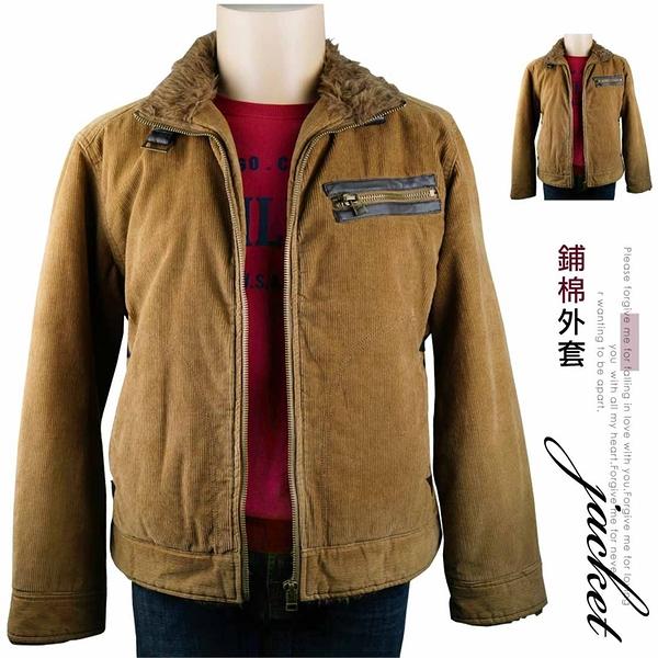 【大盤大】SPARKLE 鋪棉外套 L號 男裝 全新 拉鍊外套 反領 毛領 直條紋 冬季 情人節禮物 夾克